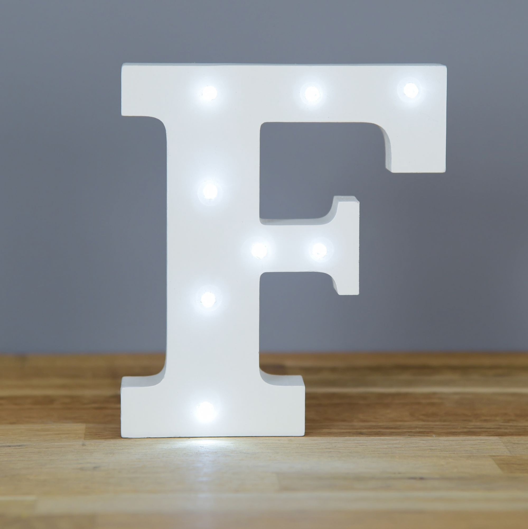 Light up letter f home decor barbours for Letter f decoration