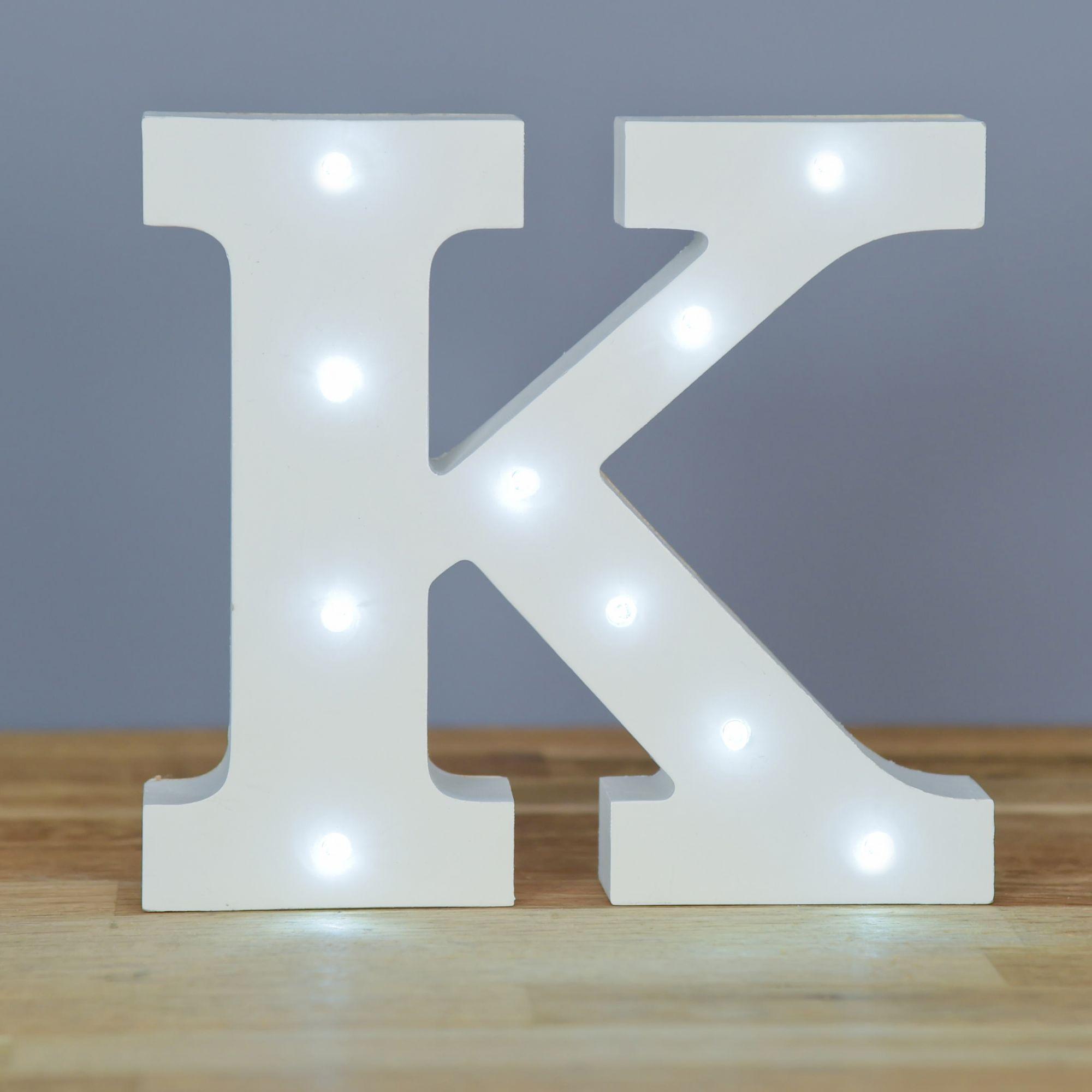 Light up letter k home decor barbours for Letter k decoration