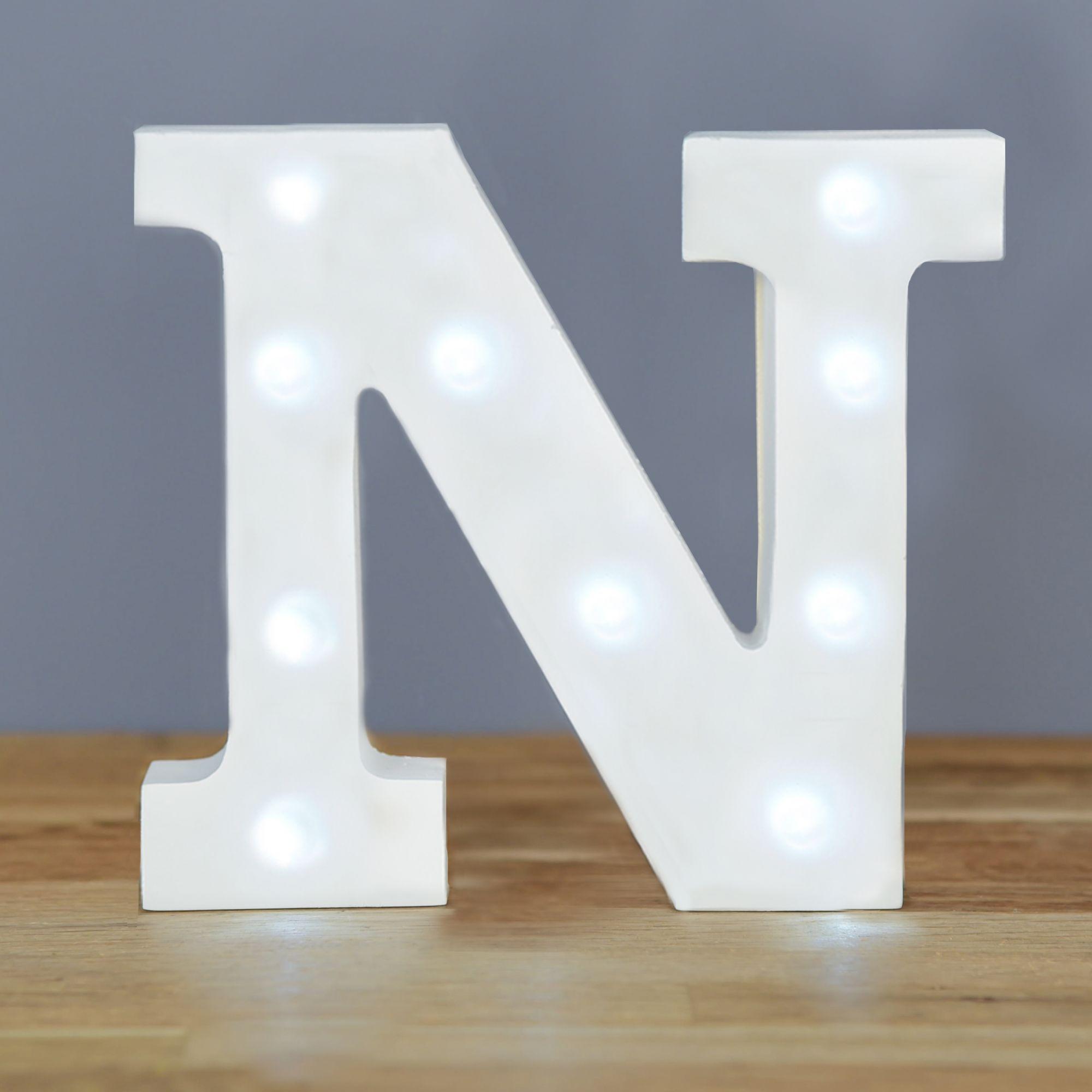 Light Up Letter N Home Decor Barbours