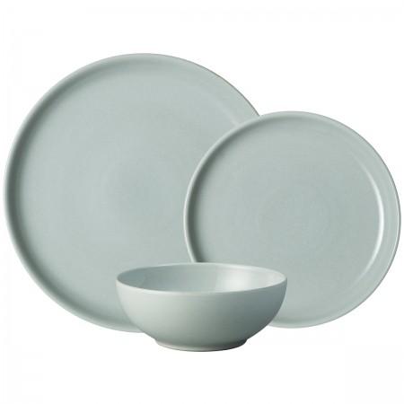 Denby Intro Pale Blue 12pc Tableware Set  sc 1 st  Barbours & Denby Intro Pale Blue 12pc Tableware Set - Plates - Barbours