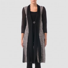Joseph Ribkoff Coat Black/White