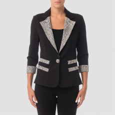 Joseph Ribkoff Jacket Black/Gold