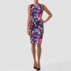 Joseph Ribkoff Dress Blue/Pink