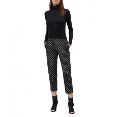 Great Plains Ikat Spot Stretch Skinny Trousers Black/Crème