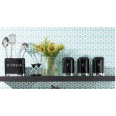Kitchencraft Lovello Tea Tin Midnight Black