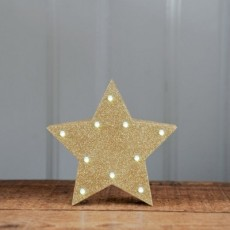 Light Up Star Gold