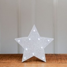 Light Up Star Silver