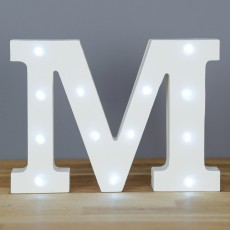 Light Up Letter M