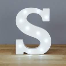 Light Up Letter S