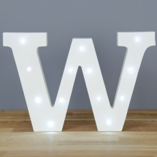 Light Up Letter W