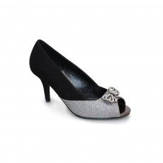 Lunar Adelia Black Bow Shoe