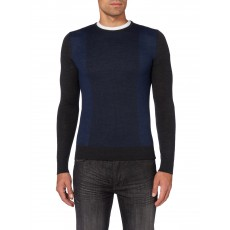 Remus Uomo LS Crew Neck Sweater Charcoal