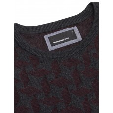 Remus Uomo LS Crew Neck Sweater Burgundy