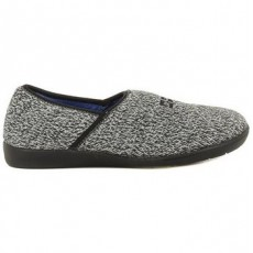 Nordika Fabric Slipper Grey