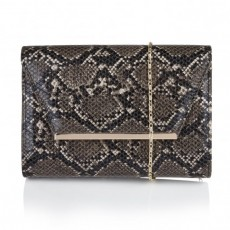 Lotus Handbag Black Snake Print