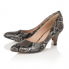 Lotus Black Snake Print Shoes