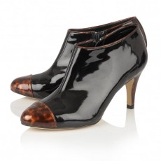 Lotus Black Tortoiseshell Shoes