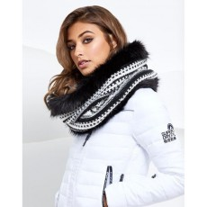 Superdry Nordic Fur Snood Black/cream