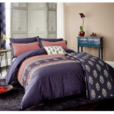 Nina Bedlinen Navy/Red