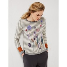 White Stuff Fennel Embroided Jumper