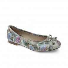 Lunar Owen White Floral Pump