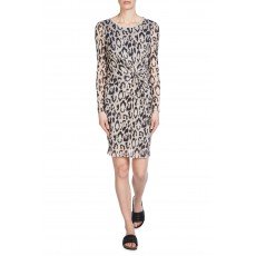 Oui Dress Lt Camel/Grey