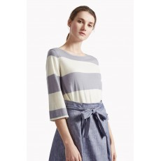 Great Plains Madison  Merino Stripe Jumper Latte/Marble