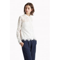 Great Plains Lorenzo Lace Mix Shirt Latte Cream