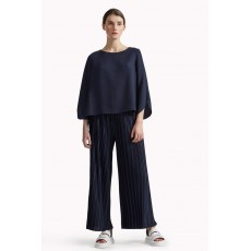 Great Plains Narcissus Jersey Flared Culottes Navy