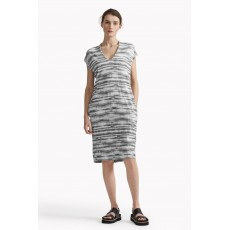 Great Plains Sonar Stripe Low V Neck Dress Black Combo