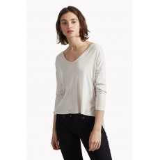 Great Plains Summer Glimmer Draped Back Tee Silver Bamboo