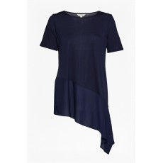 Great Plains Mix A Lot Draped Hem Tee Navy