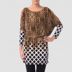 Joseph Ribkoff Top Animal Print