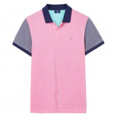 Gant Color Block Oxford Ss Rugger Bright Magenta