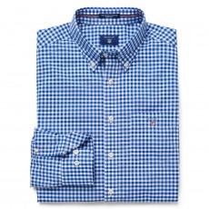 Gant The Poplin Gingham Reg Bd Shirt Yale Blue