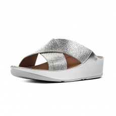 FitFlop Crystall Slide Silver