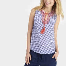 Joules Embroidered Sleeveless Top