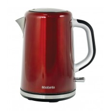 Brabantia Brushed Stainless Steel Kettle Red