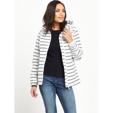 Marina Jacket White/Navy Stripe