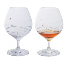 Glitz Brandy/Licquer Glass Pair