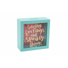 Saving For Rings & Sparkling Things Wooden Money Box