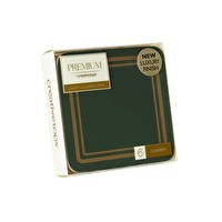 Classic Premium Coasters Green Pack 6