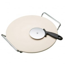 Kitchencraft Pizza Stone & Cutter 32CM Stone