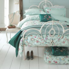 Bedeck Country Meadow Bedding Aqua