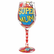 Super Mum Wine Glass