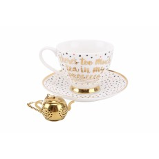 Too Much Tea In My Prosecco Tea Cup Set