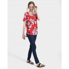 Joules Hannah Woven Shell Top Red Posy