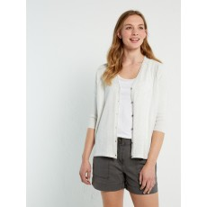 White Stuff Cruise Drawstring Cardi Ice Grey