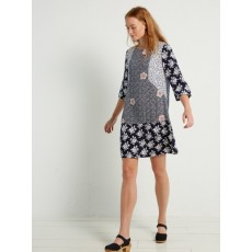White Stuff Savannah Tunic Dress Midnight Blue Print