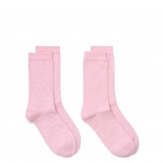 Gant O1. 2 Pack Solid And Dot Sock California Pink